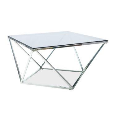 Ława Signal Silver A srebrny/szkło dymione 80X80