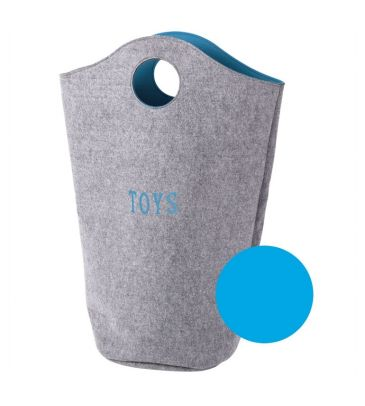 Filcowa torba na zabawki Childhome CCFTBOT turkusowa