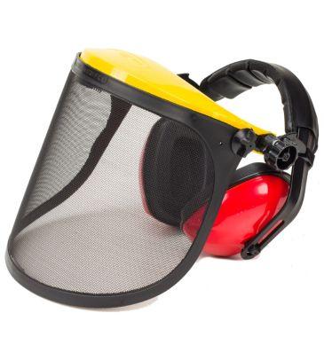 Osłona twarzy z metalowej siatki oraz ochronnik słuchu NAC B903S*B001