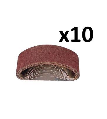 Zestaw taśm szlifierskich gr. 80 DEDRA DED780911 (10 sztuk)