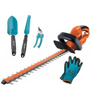 Nożyce elektryczne Black&Decker GT5050 + zestaw narzędzi ogrodniczych