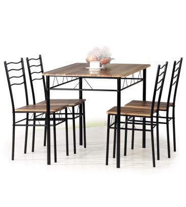 Zestaw stół + 4 krzesła Signal Esprit orzech 110x70