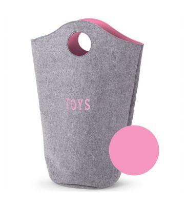 Filcowa torba na zabawki Childhome CCFTBOSP różowa