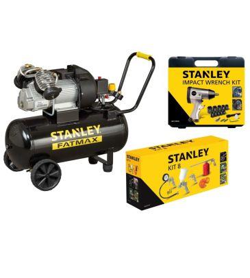 Kompresor olejowy 50L Stanley FATMAX DV2 400/10/50 8119500STF522 (STP322) z zestawem akcesoriów