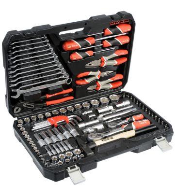 """Zestaw narzędziowy 1/4"""" i 1/2"""" 122 el. YATO YT-38901"""