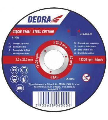 Tarcza do cięcia stali DEDRA F13021 125mm x 22,2mm x 1mm