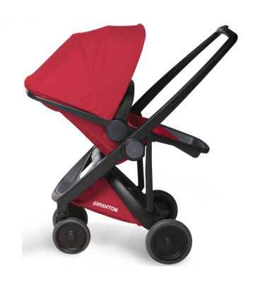 Wózek spacerowy Greentom UPP Reversible A+B+D black/red