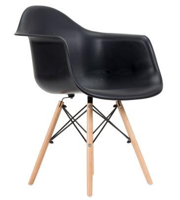 Krzesło skandynawskie FCS Zano czarne
