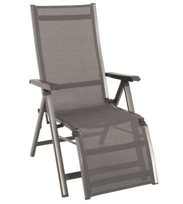 Fotel składany 5-pozycyjny z podnóżkiem ELEMENTS 879309