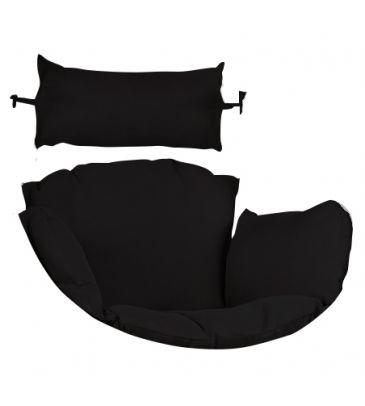 Poduszka na fotel podwieszany -  czarna
