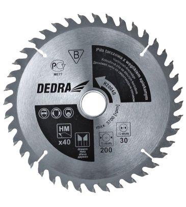 Piła tarczowa do drewna DEDRA H20540 205x30 mm 40T