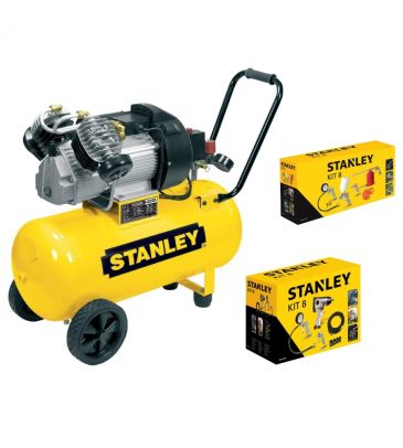 Kompresor olejowy 50L Stanley DV 2 400/10/50 z akcesoriami  (STN033 5671STN + 5769STN)