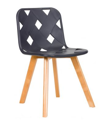 Krzesło TDF Azurro black grey