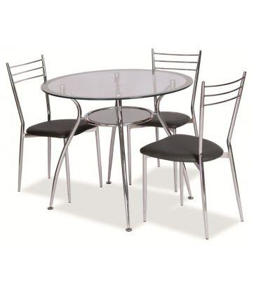 Stół okrągły Signal Finezja A srebrny 90cm