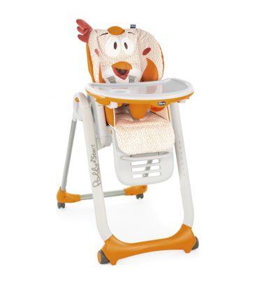 Krzesełko do karmienia Chicco Polly 2 START-4 koła fancy chicken
