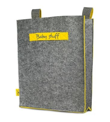 Torba na drobiazgi Jollein Baby Stuff 010-870-00038  żółto-szara