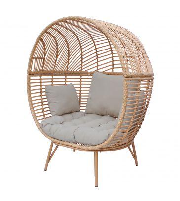 Fotel ogrodowy MARTINIQUE - poduszka szara