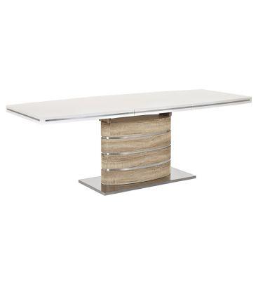 Stół rozkładany Signal Fano biały/dąb sonoma 160x90