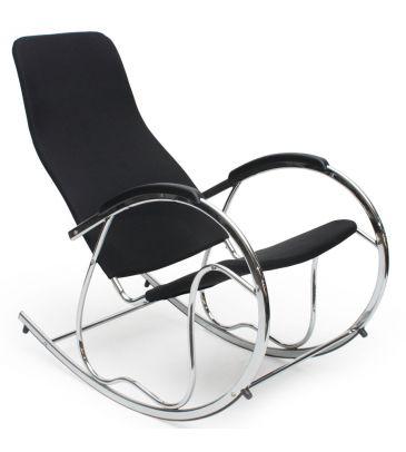 Fotel wypoczynkowy bujany Halmar Ben 2 czarny