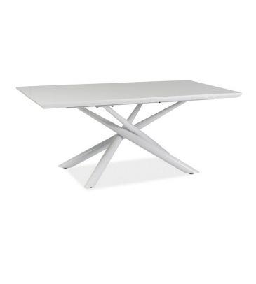Stół rozkładany Signal Taranto biały 160x90