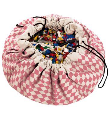 Worek na zabawki Play&Go różowe romby