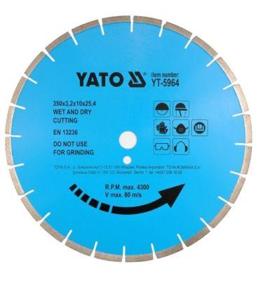 Tarcza diamentowa do kamienia 400x25.4 mm YATO YT-5965