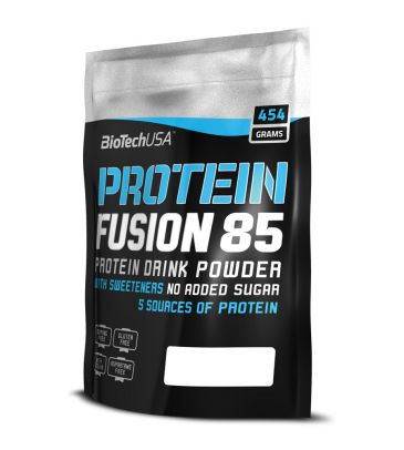 Odżywka białkowa Biotech Protein Fusion 85 454g strawberry
