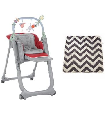 Zestaw: Krzesełko do karmienia Chicco Polly Magic Relax red + Mata Prince Lionheart multi-use catchALL chevron 2263