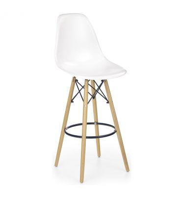 Krzesło barowe hoker Halmar H-51 białe