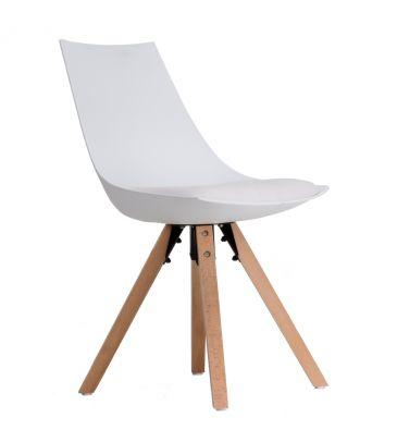 Krzesło LCN COSTA białe zabrudzone