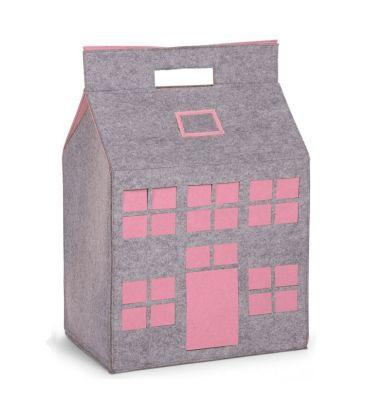Filcowy domek na zabawki Childhome CCFPSP różowy