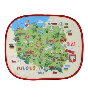 Osłonka przeciwsłoneczna z mapą Tuloko 1szt.