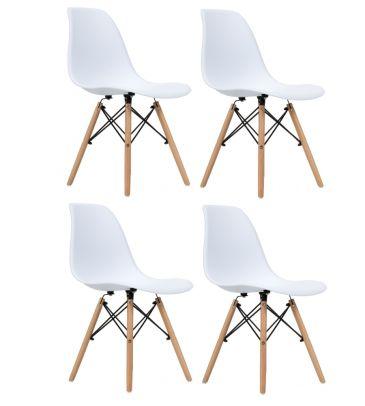 Zestaw: Krzesło skandynawskie FCS Cavo białe 4 szt