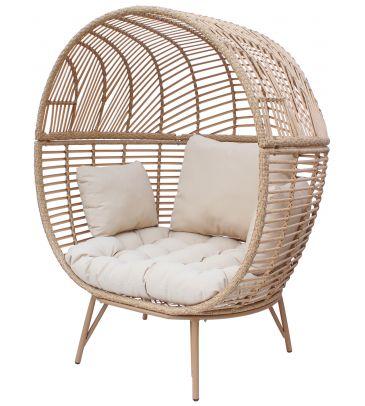 Fotel ogrodowy MARTINIQUE - poduszka beżowa