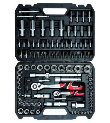"""Zestaw narzędziowy 1/4"""" i 1/2"""" 108 el. YATO YT-38791 + WKRĘTAKI"""