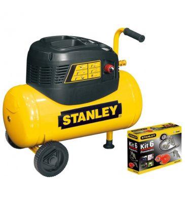 Kompresor 24L Stanley D 200/8/24 B6CC304STN003 z akcesoriami
