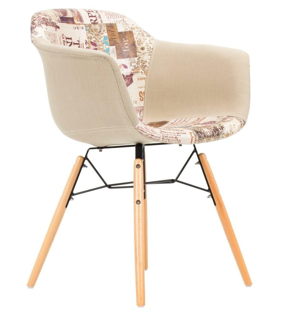 Krzesło patchwork TDF  Frego 01