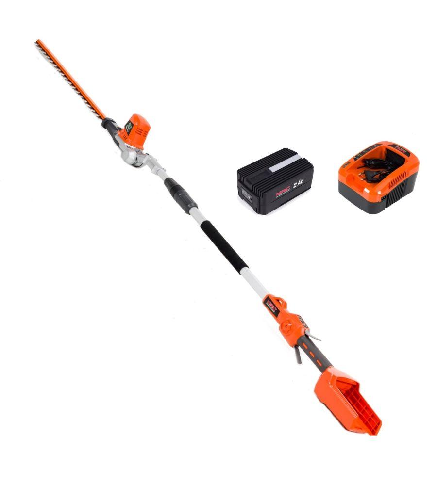 Nożyce akumulatorowe do żywopłotu NAC PHB40-BL-NG 40V z akumulatorem i ładowarką