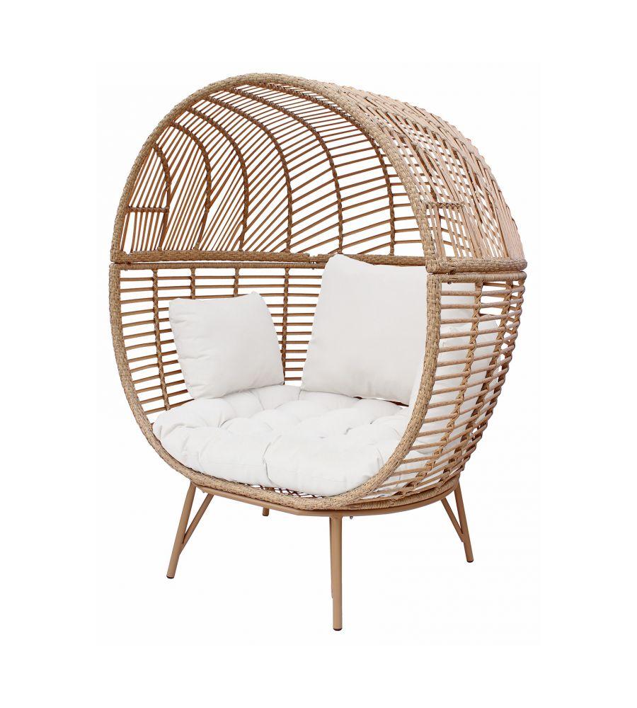 Fotel ogrodowy MARTINIQUE - poduszka biała
