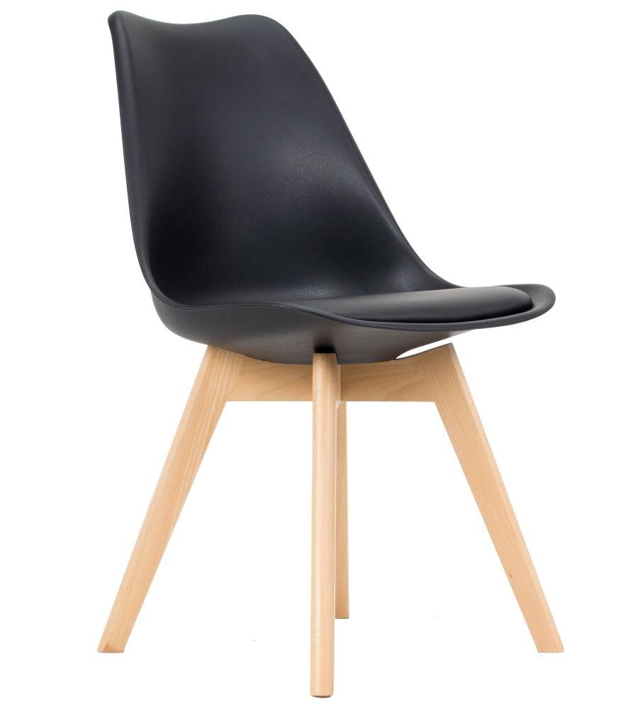 Krzesło skandynawskie FCS Loro czarne