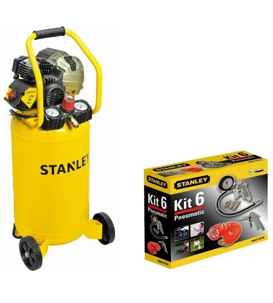 Kompresor hybrydowy olejowy 30L Stanley  HYCT404STN649 z akcesoriami