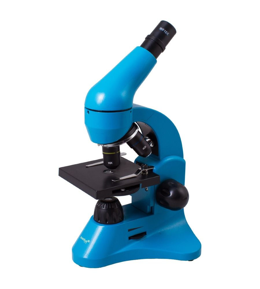 Mikroskop do nauki Levenhuk Rainbow 50L azure