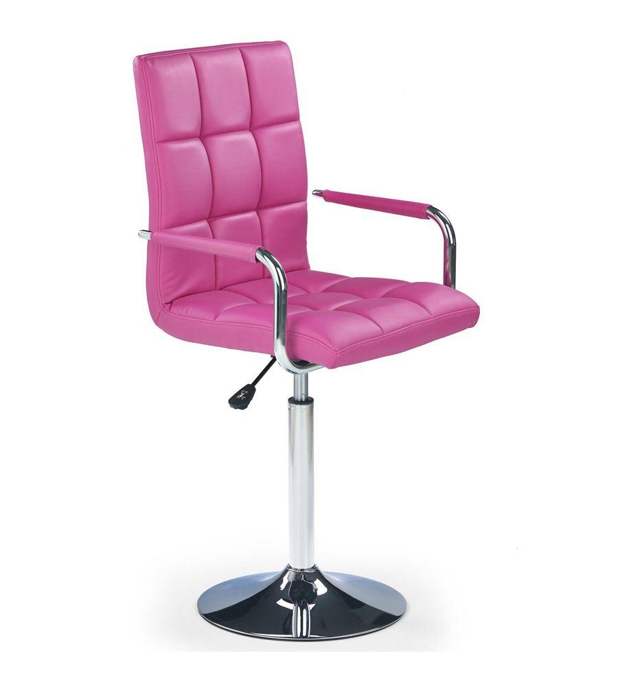 Fotel obrotowy Halmar Gonzo różowy