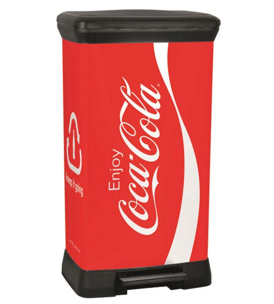Kosz na śmieci Coca-Cola Curver 50L z pedałem 207796 (231346)