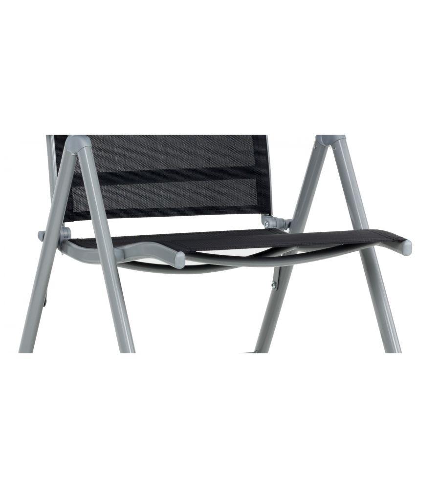Fotel 7 Pozycyjny Stalowy Moderno