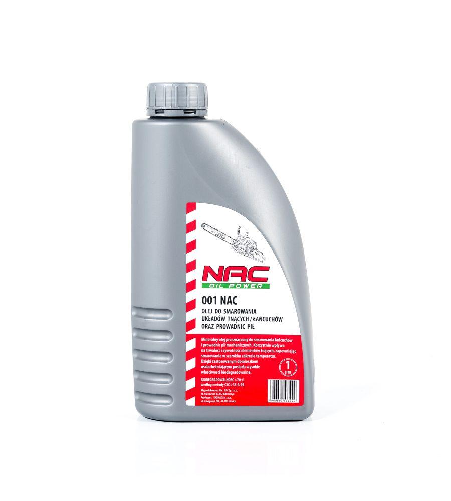 Olej do prowadnic i łańcuchów NAC 1L