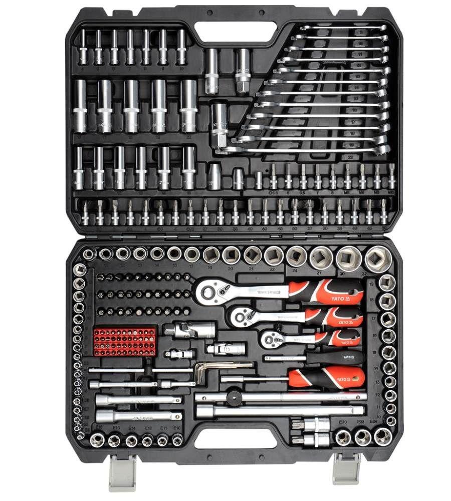 """Zestaw narzędziowy 1/4"""", 3/8"""" i 1/2"""" 216 el. YATO YT-38841"""